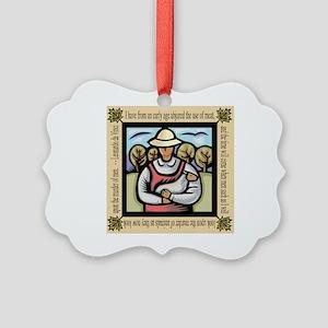Vegetarian da Vinci Quote Picture Ornament