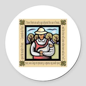 Vegetarian da Vinci Quote Round Car Magnet