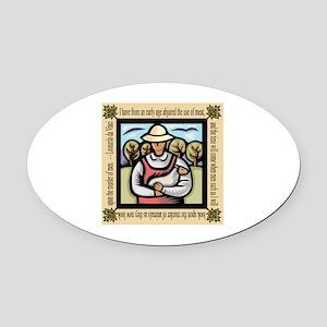 Vegetarian da Vinci Quote Oval Car Magnet