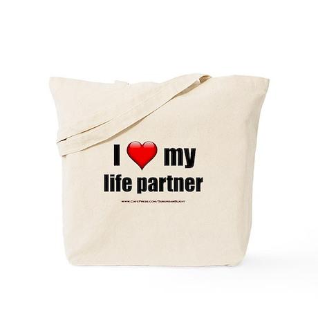 """""""Love My Life Partner"""" Tote Bag"""