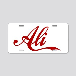 Ali name Aluminum License Plate
