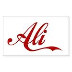 Ali name Sticker (Rectangle 10 pk)