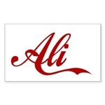 Ali name Sticker (Rectangle)