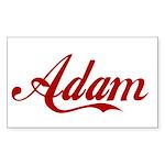 Adam name Sticker (Rectangle 10 pk)