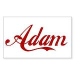 Adam name Sticker (Rectangle)