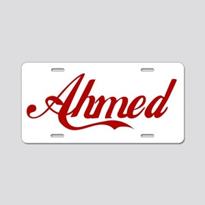 Ahmed name Aluminum License Plate