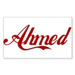 Ahmed name Sticker (Rectangle)