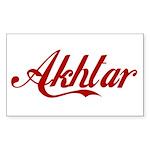 Akhtar name Sticker (Rectangle 50 pk)