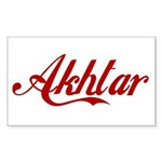 Akhtar name Sticker (Rectangle)