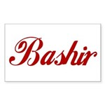 Bashir name Sticker (Rectangle 50 pk)