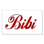 Bibi name Sticker (Rectangle 10 pk)