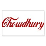 Chowdhury name Sticker (Rectangle)
