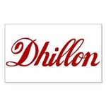 Dhillon name Sticker (Rectangle)