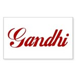 Gandhi name Sticker (Rectangle 10 pk)