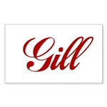 Gill name Sticker (Rectangle)