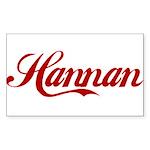 Hannan name Sticker (Rectangle)