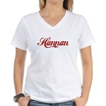 Hannan name Women's V-Neck T-Shirt