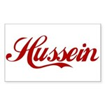 Hussein name Sticker (Rectangle)