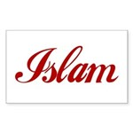 Islam name Sticker (Rectangle)