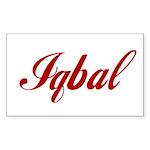 Iqbal name Sticker (Rectangle 50 pk)