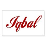 Iqbal name Sticker (Rectangle)