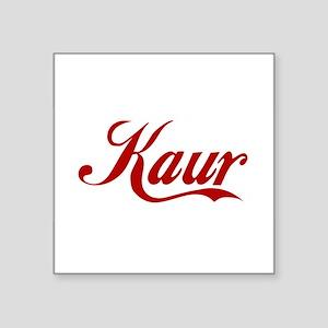 "Kaur name Square Sticker 3"" x 3"""