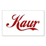 Kaur name Sticker (Rectangle 50 pk)