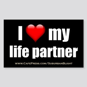 """Love My Life Partner"" Sticker (Rectangle)"
