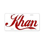 Khan name Aluminum License Plate