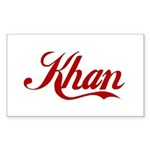 Khan name Sticker (Rectangle)