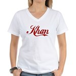 Khan name Women's V-Neck T-Shirt