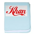 Khan name baby blanket