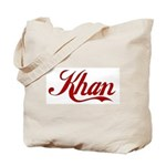 Khan name Tote Bag