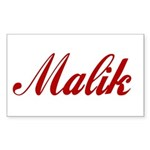 Malik name Sticker (Rectangle)