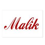 Malik name Postcards (Package of 8)