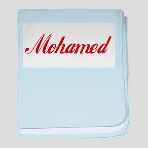 Mohamed name baby blanket