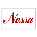 Nessa name Sticker (Rectangle 50 pk)
