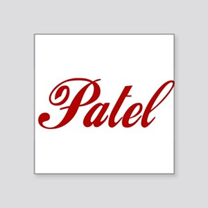 "Patel name Square Sticker 3"" x 3"""
