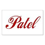 Patel name Sticker (Rectangle 50 pk)