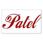 Patel name Sticker (Rectangle 10 pk)