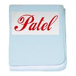 Patel name baby blanket