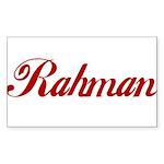Rahman name Sticker (Rectangle)