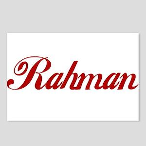 Rahman name Postcards (Package of 8)