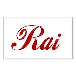 Rai name Sticker (Rectangle 50 pk)