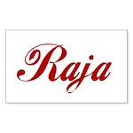 Raja name Sticker (Rectangle)