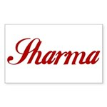 Sharrma name Sticker (Rectangle 10 pk)