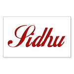 Sidhu name Sticker (Rectangle)