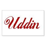 Uddin name Sticker (Rectangle)