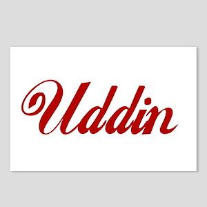 Uddin name Postcards (Package of 8)