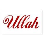 Ullah name Sticker (Rectangle 10 pk)